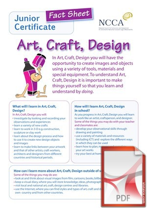 Art, Craft, Design at Creagh College, Gorey, County Wexford