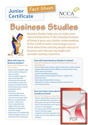 Business Studies at Creagh College, Gorey, County Wexford