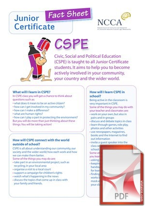CSPE (Civic, Social and Political Education) at Creagh College, Gorey County Wexford