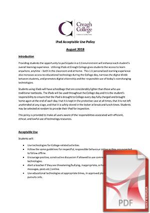iPad AUP 2018 - 2019
