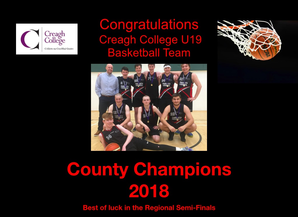U19 Basketball County Champions 2018