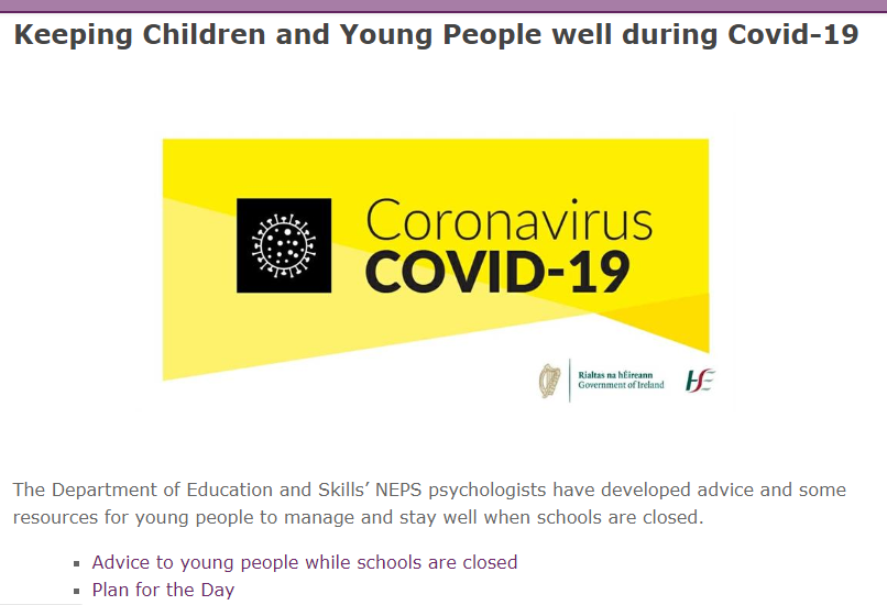 Keeping Children and Young People well during Covid-19